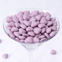 Lilac Mini Heart Chocolate Dragees (1 kilo)